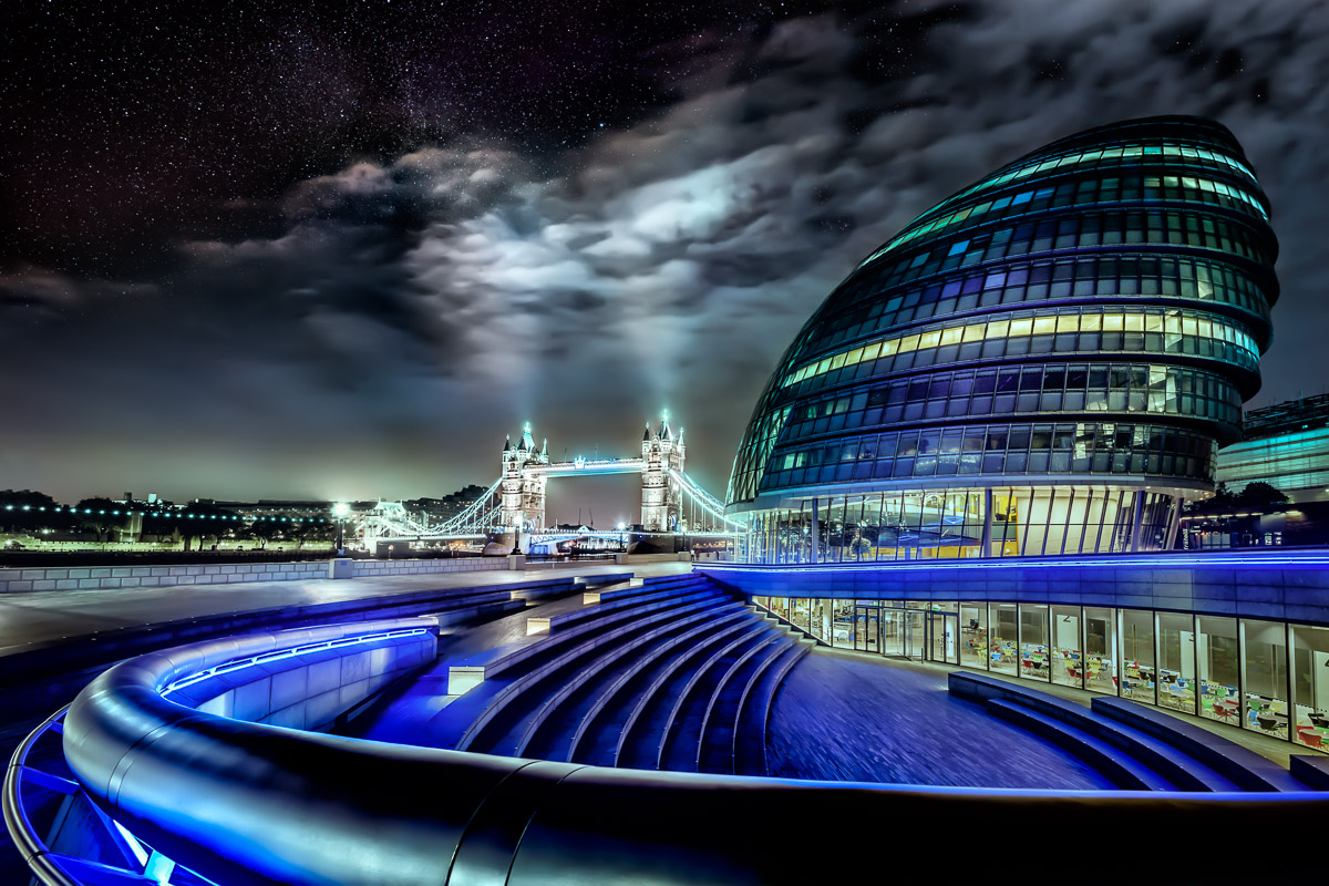 Tower Bridge and City Hall under the Stars by Jacob Surland