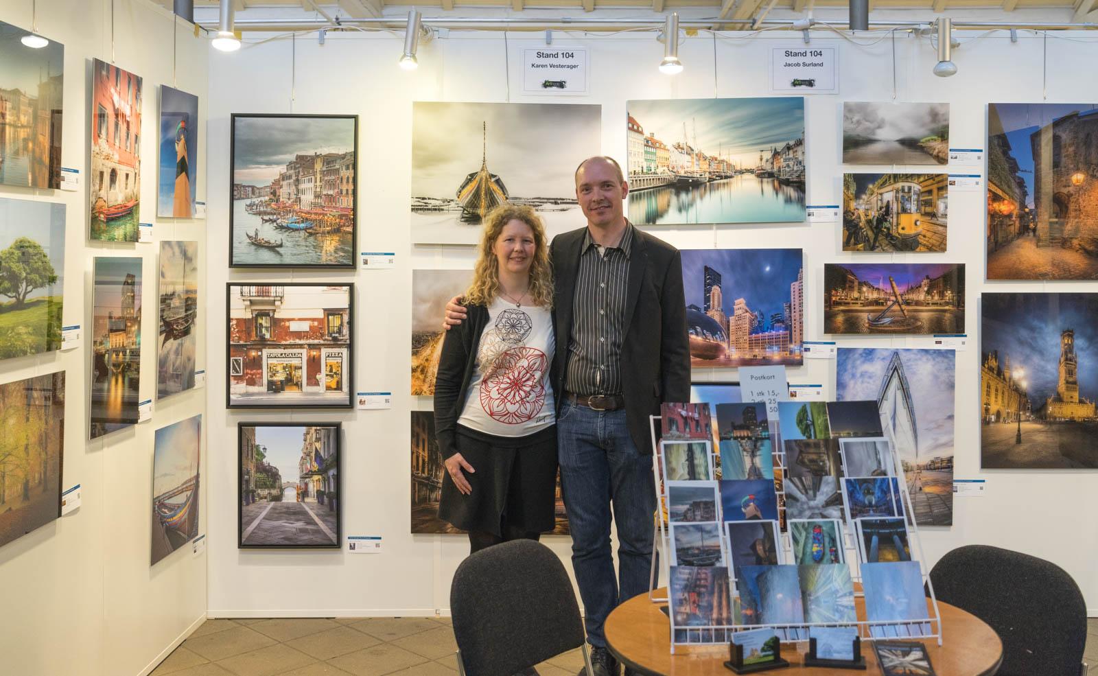 Jacob Surland and Karen Vesterager at Art Nordic 2016.