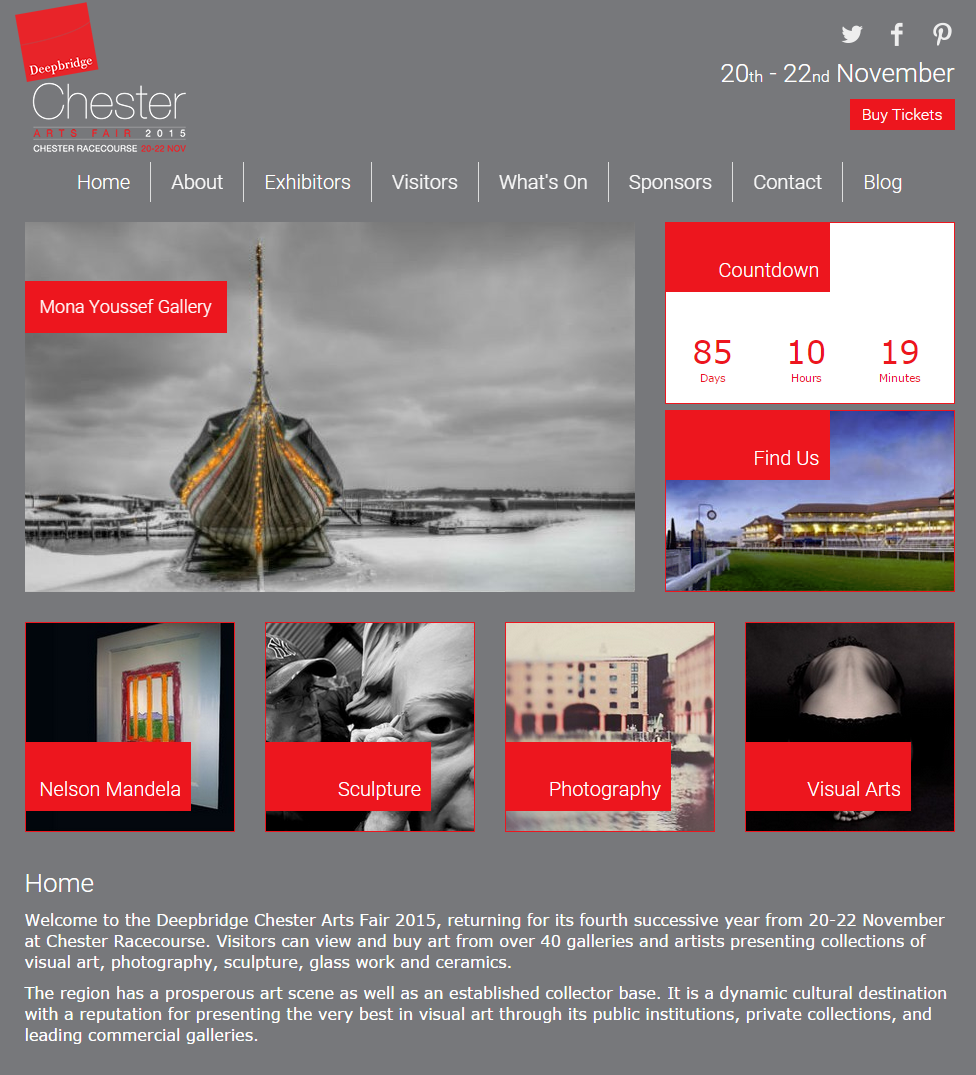 Chester Art Fair 2015 used the Viking ship on a Winter's Morning as a part of the branding.