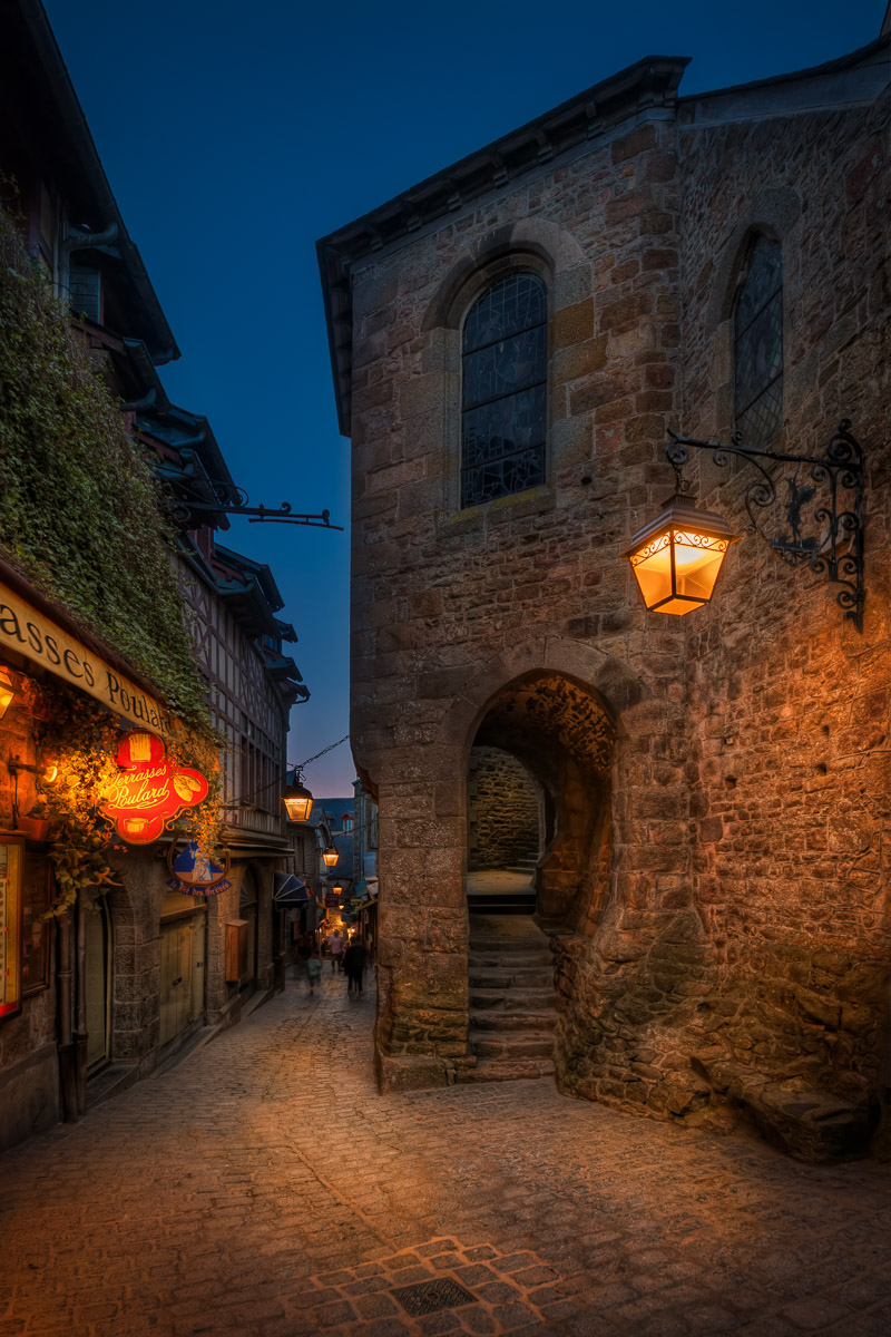 Street in Mont Saint Michel by Jacob Surland.