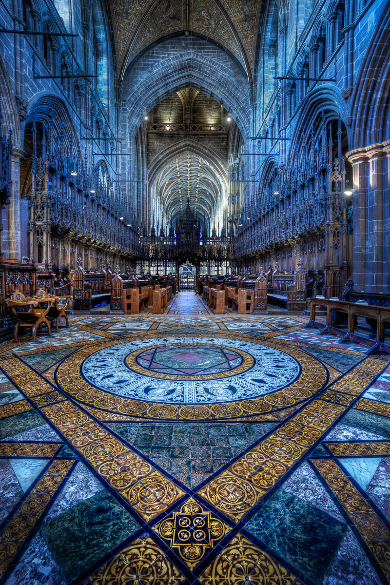 Patterns in the floor, Chester Cathedral. By Jacob Surland